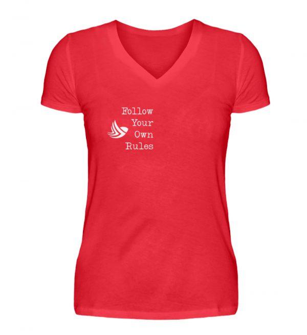 Follow Your Own Rules - Women V-Neck Shirt-2561